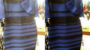 White and gold, black and blue dress